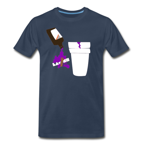 Purp Edition Crew Neck Tee (Navy Blue) - Men's Premium T-Shirt