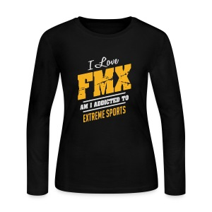 I Love FMX Extreme Sport - Women's Long Sleeve Jersey T-Shirt