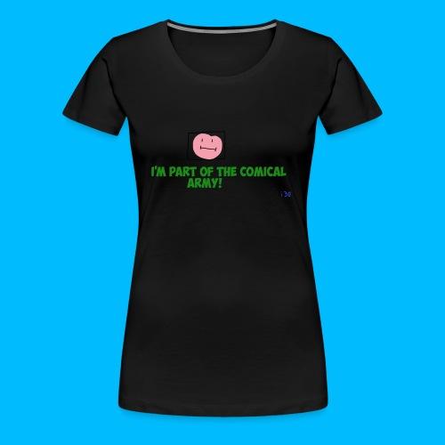 Comical Army Women Shirt - Women's Premium T-Shirt