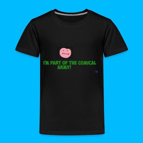 Comical Army Toddler Shirt - Toddler Premium T-Shirt