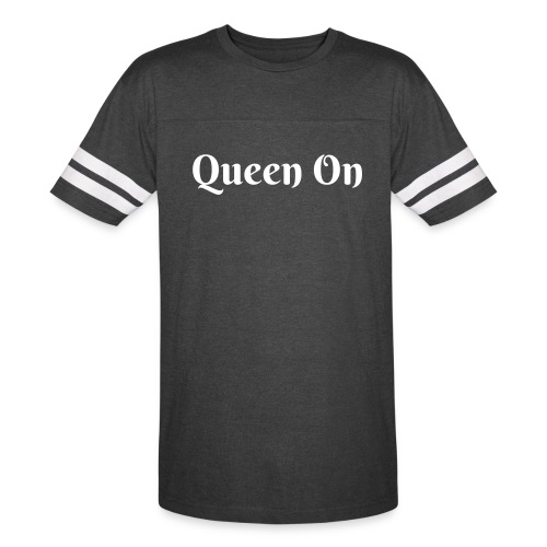 Queen On Jersey T-Shirt (Smoke) - Vintage Sport T-Shirt