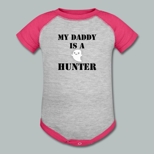 Daddy is Ghost Hunter Onsie - Baby Contrast One Piece