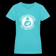 T-Shirts ~ Women's V-Neck T-Shirt ~ I make something...