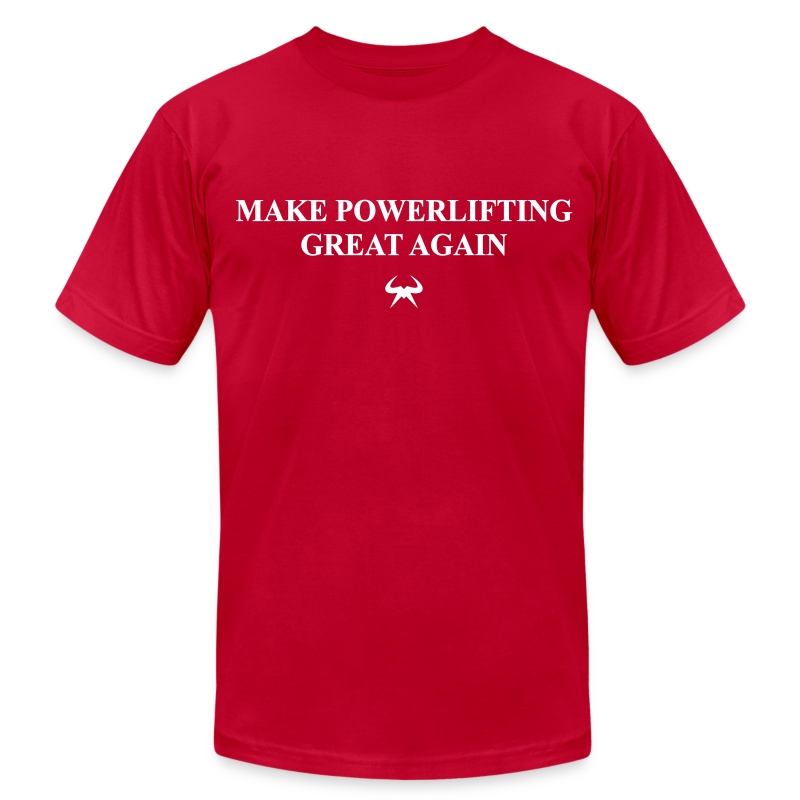 Make Powerlfting Great Again - Men's T-Shirt by American Apparel