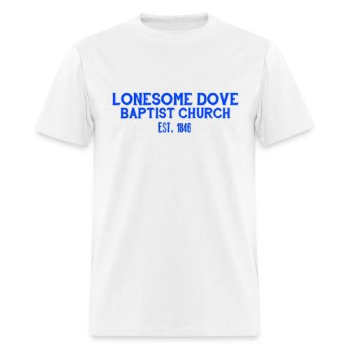 White Lonesome Dove Baptist Church Shirt - Men's T-Shirt