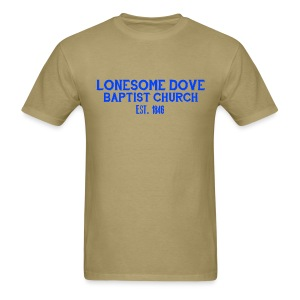 Khaki Lonesome Dove Baptist Church Shirt - Men's T-Shirt