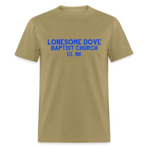 Khaki Lonesome Dove Baptist Church Shirt - Men's T-Shirt