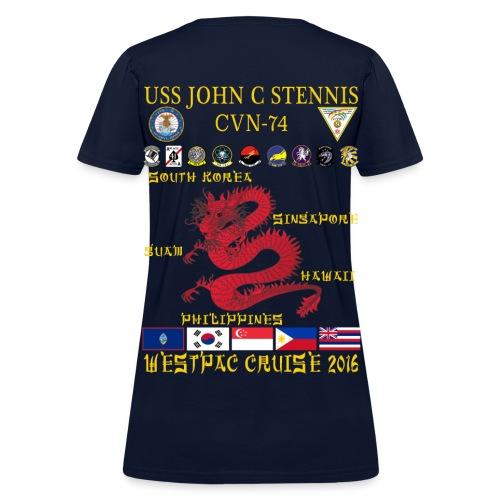 USS JOHN C STENNIS 2016 WESTPAC CRUISE SHIRT - WOMEN'S - ort - Women's T-Shirt