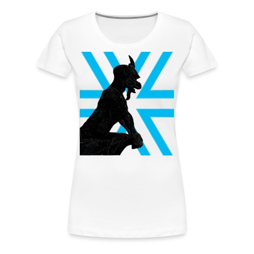 Gargoyle Silhouette Womans - Women's Premium T-Shirt