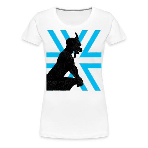 Gargoyle Silhouette Womans - Women's Premium T-Shirt