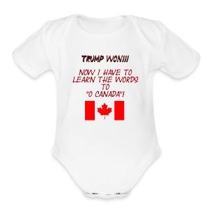 Trump Won Baby 2 - Short Sleeve Baby Bodysuit