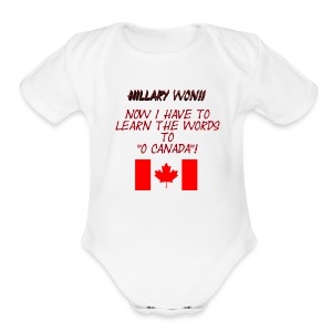 Hillary Won Baby 2 - Short Sleeve Baby Bodysuit