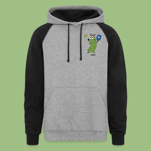 Colorblock Hoodie - best selling,dog,funny,humorous,kids and babies pickleball shirts,mens' pickleball shirts,miscellaneous,pickle dog,pickleball,pickleball apparel,pickleball gifts,pickleball olympics,pickleball t shirts,pickleball teez,pickleballer,pickleballteez,pickledog,sally adams,sports and games,womens' pickleball shirts