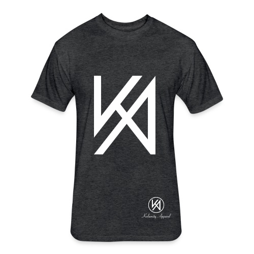 Kalamity Apparel Heather Black Trainer Shirt - Fitted Cotton/Poly T-Shirt by Next Level