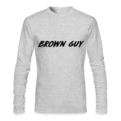 brown guy long sleeve - Men's Long Sleeve T-Shirt by Next Level