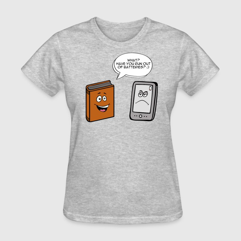 Book vs eBook T-Shirts - Women's T-Shirt