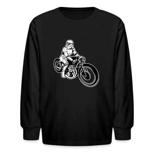 Stormtrooper Riding a Motorcycle. Funny Star Wars