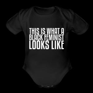 Black Feminist Baby - Short Sleeve Baby Bodysuit