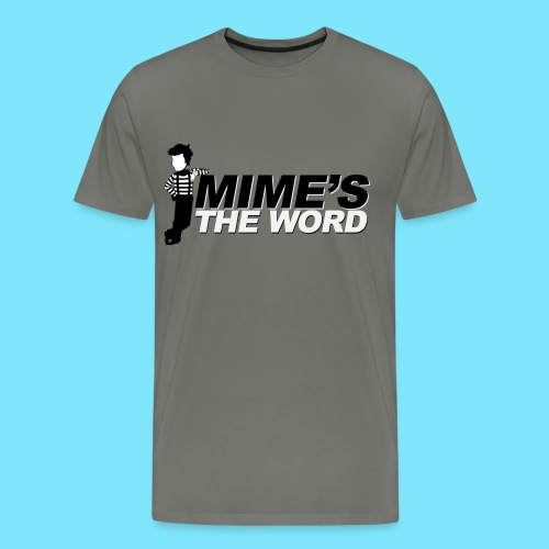Mime's The Word Men's T-Shirt (Grey) - Men's Premium T-Shirt