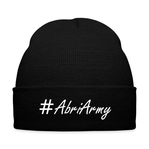 Abri Army Beanie - Knit Cap with Cuff Print