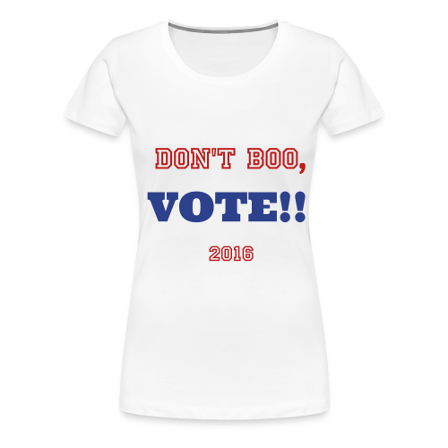 Ladies-Don't Boo, Vote Tee- Red Glitter Text - Women's Premium T-Shirt