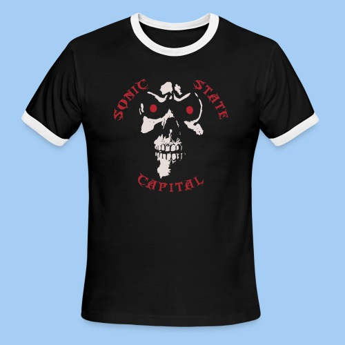 Men's ringer double L.O.G.O - Men's Ringer T-Shirt