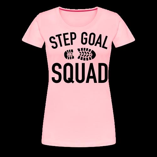 Step Goal Squad #3 Design - Women's Plus Sized, SM-3XL - Women's Premium T-Shirt