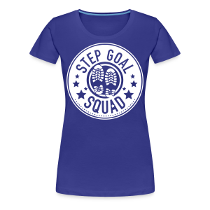 Step Goal Squad #1 Reverse Design - Plus Sized Womens - Women's Premium T-Shirt