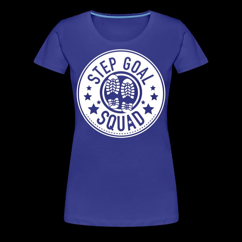 Step Goal Squad #1 Reverse Design - Plus Sized Womens - Women's Premium T-Shirt