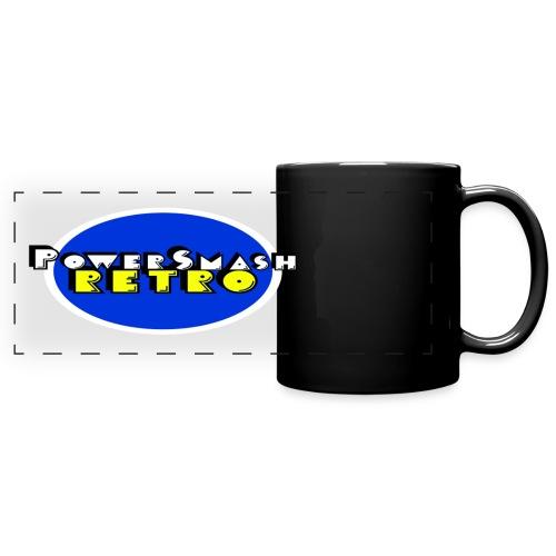 PowerSmashRetro Panoramic Mug Black - Full Color Panoramic Mug
