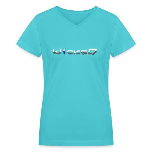 W1ckeD Blue - Women's V-Neck T-Shirt