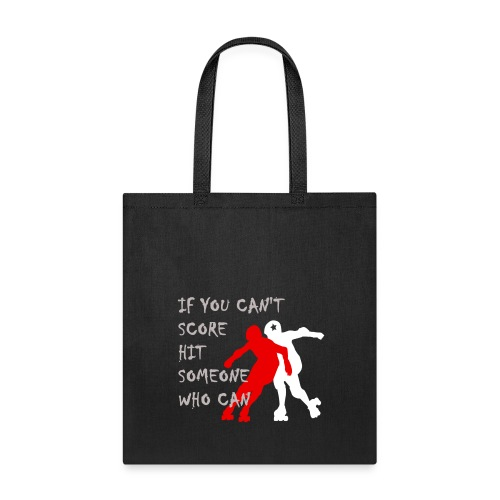 Hit Someone Roller Derby Cotton Tote Bag - Tote Bag