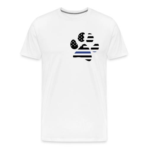 K-9 Paw Flag (Premium) - Men's Premium T-Shirt