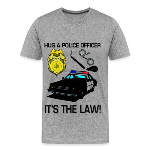 Hug A Police Officer  - Men's Premium T-Shirt