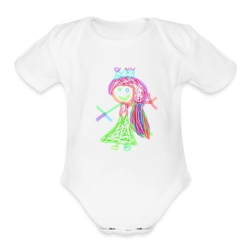 Electric Girl - Organic Short Sleeve Baby Bodysuit