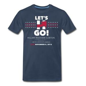 Hillary 2016 Let's Go! New Logo - Men's Full Blue - Men's Premium T-Shirt