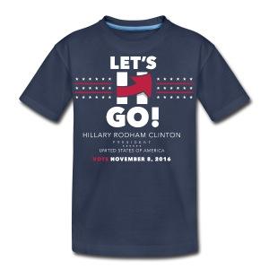 Hillary 2016 Let's Go! New Logo - Kid's Full Blue - Kids' Premium T-Shirt