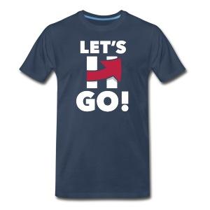 Hillary 2016 Let's Go! New Logo - Men's Logo Blue - Men's Premium T-Shirt