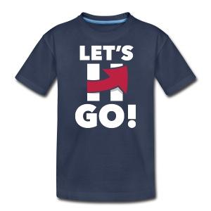 Hillary 2016 Let's Go! New Logo - Kid's Logo Blue - Kids' Premium T-Shirt