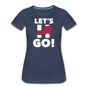 Hillary 2016 Let's Go! New Logo - Women's Logo Blue - Women's Premium T-Shirt