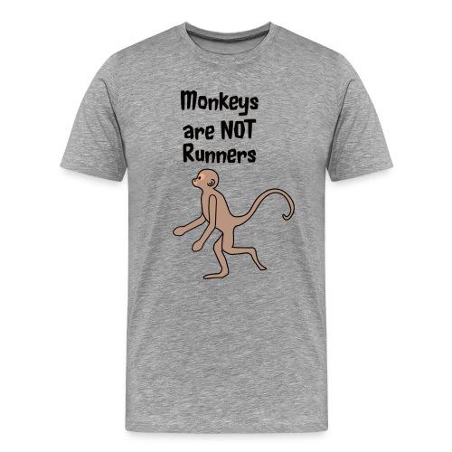 Monkeys Are Not Runners - Men's Premium T-Shirt