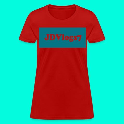 Women's JDVlogs7 T-Shirt (DarkishBlue Logo) - Women's T-Shirt