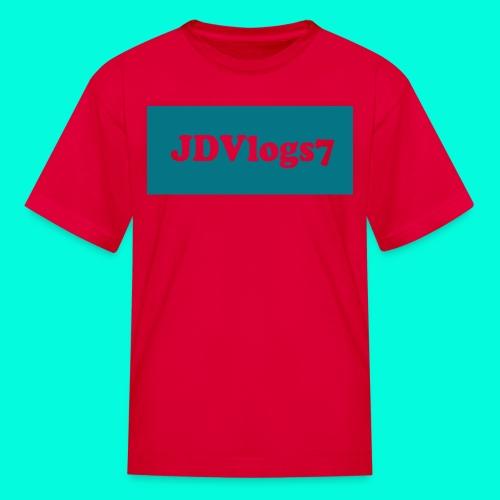 Kids JDVlogs7 T-Shirt (DarkishBlue Logo) - Kids' T-Shirt