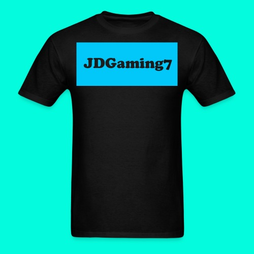 Men's JDGaming7 T-Shirt (LightBlue Logo) - Men's T-Shirt