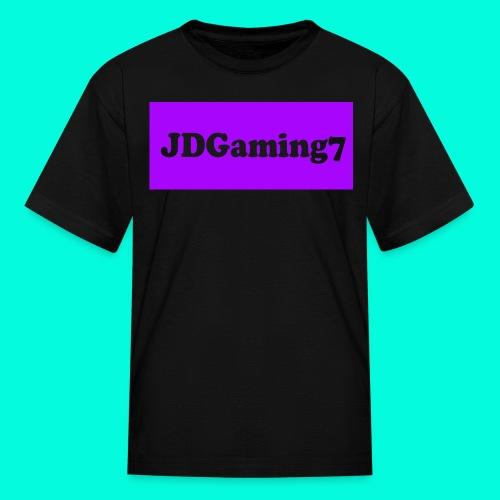 Kids JDGaming7 T-Shirt (Purple Logo) - Kids' T-Shirt