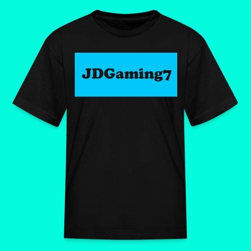 Kids JDGaming7 T-Shirt (LightBlue Logo) - Kids' T-Shirt