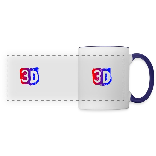 (ChewBacca3D LOGO) White And Black Mug - Panoramic Mug