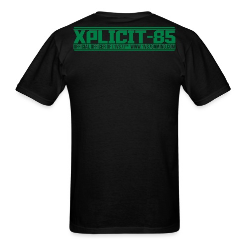 CUSTOM for XPLICIT | [1vs7]™ Men's Tee | Green Smooth Logo | Black Fabric | Custom Gamertag/Rank - Men's T-Shirt