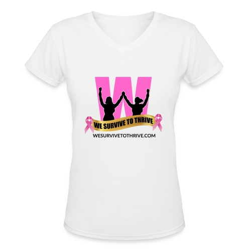 We Survive To Thrive V-Neck T-Shirt (Women) view color choices - Women's V-Neck T-Shirt