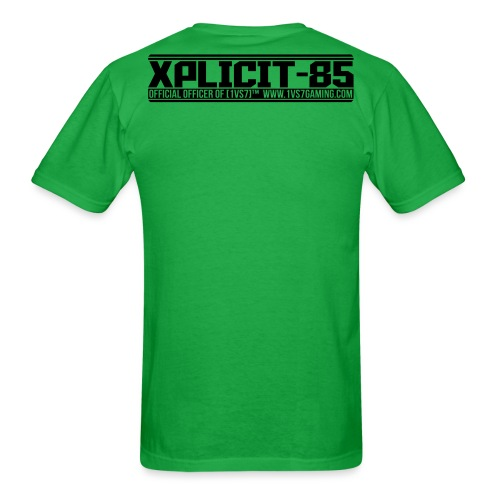 CUSTOM for XPLICIT | [1vs7]™ Men's Tee | Black Smooth Logo | Green Fabric | Custom Gamertag/Rank - Men's T-Shirt